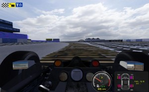 Donington N64 style following a gfx freeze in rFactor
